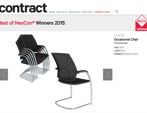 Diffrient Occasional Chair Wins Silver Best of Neocon Award