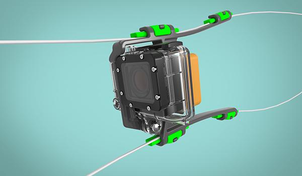 Camrig GoPro mount design Rendering