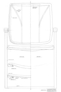 Ocassional Chair original sketches designer Niels Diffrient