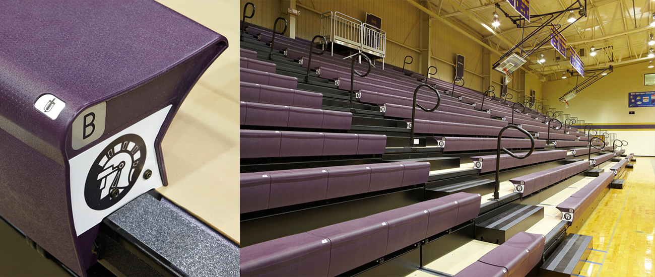 Bleachers in School Gym Product Development Services