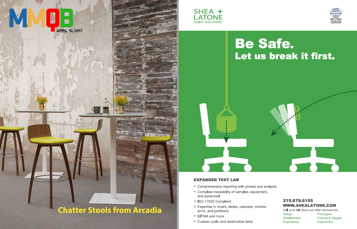 S+L Expanded Test Lab Advertised In MMQB. In Case You Missed Our Furniture  Testing Ad In The Monday Morning Quarterback ...